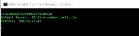 Lookup Ip Command How To Check Dns Records Using Basic Nslookup Command Exles
