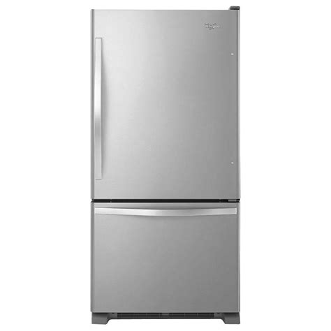 whirlpool 33 in w 21 2 cu ft side by side refrigerator