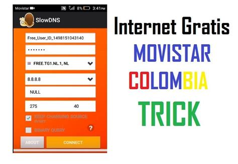tutorial internet gratis android colombia trick movistar colombia 2018 internet gratis con slowdns vpn