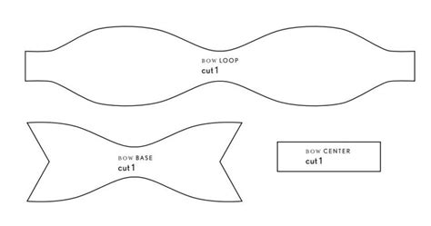 felt bow tie template craft and diy bow