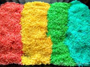 rice colors colored rice activity simple and entertaining