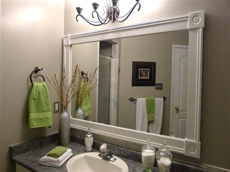 Framed Bathroom Mirror Ideas by White Vanity Mirror Diy Bathroom Mirror Frame Ideas