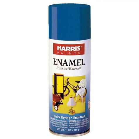 home depot paint blue harris 11 oz gloss enamel continental blue spray paint