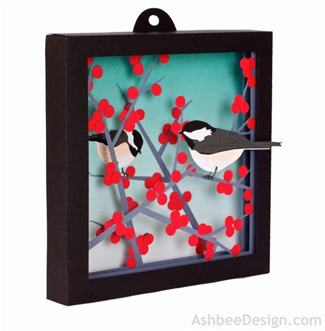google design box shadow ashbee design silhouette projects 3d winterberry shadow box
