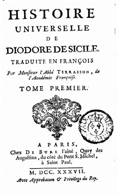 142123520x bibliotheque historique de diodore de table des mati 232 res de diodore