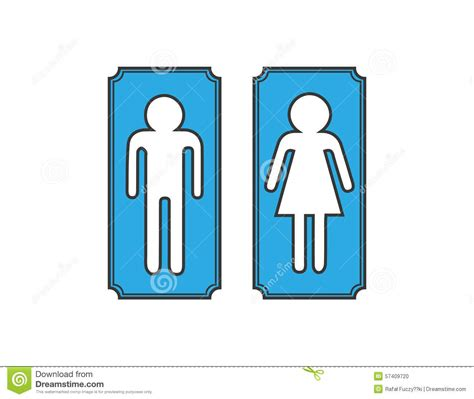 man woman bathroom sign restroom banners toilet signs stock vector image 57409720