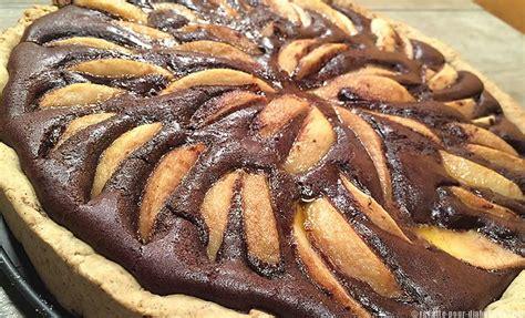 recette de cuisine pour diab騁ique tarte chocolat et poires sans gluten