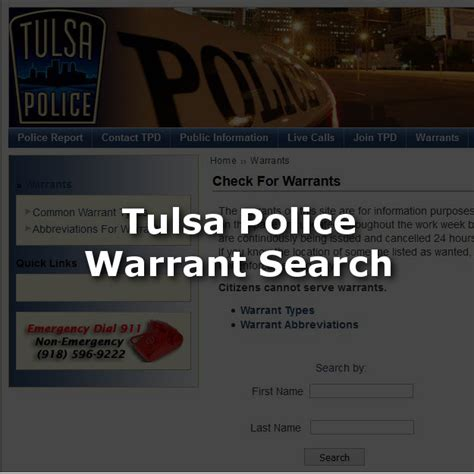 Warrant Search Tulsa County Research Tulsa Bail Bonds Valuable Bail Resources