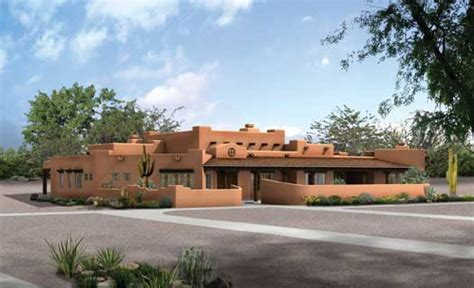 santa fe style house plans sante fe style house plans 3838 square foot home 1 story 4 bedroom and 3 bath 3