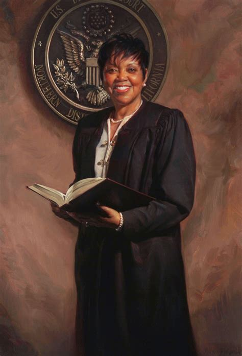 California Northern District Court Search File Judge Saundra Brown Armstrong Official Portrait By Johnston On Linen