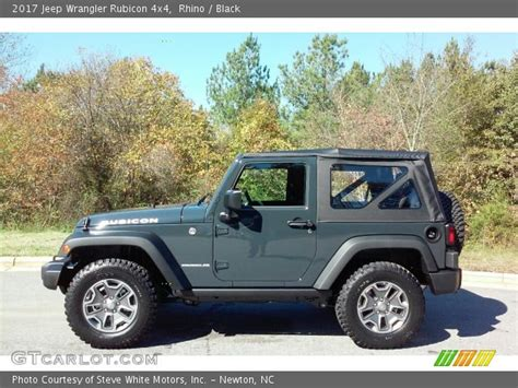 jeep rubicon 2017 grey rhino 2017 jeep wrangler rubicon 4x4 black interior