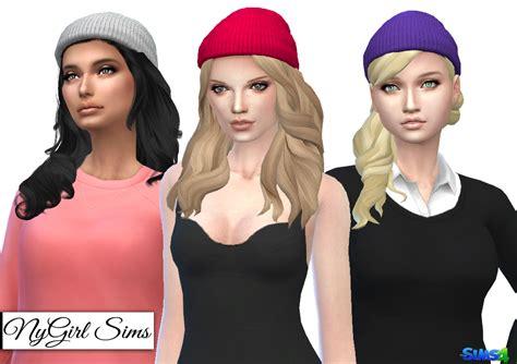 sims 4 beanie nygirl sims 4 knitted beanie edit