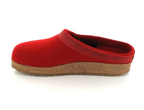 german wool slippers haflinger gzl clog grizzly torben colorful wool slippers