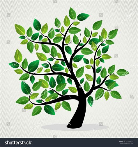 environmentally friendly trees green leaf eco friendly tree design stock vector 145733141