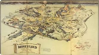 walt disney s original map of disneyland re