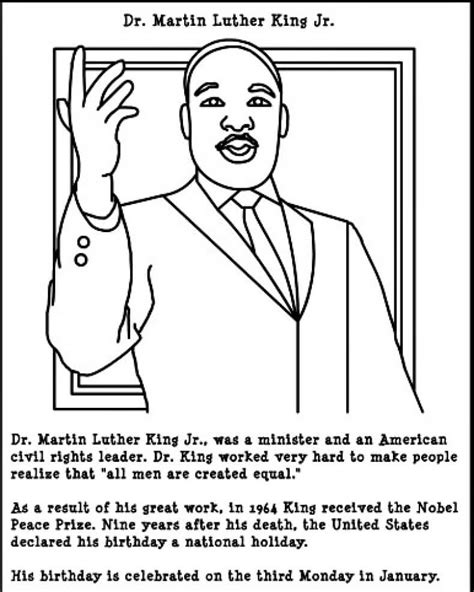 martin luther king jr coloring sheets free printable martin luther king jr day coloring pages