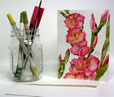watercolor tutorial frugal crafter paint gladiolus in 8 minutes with watercolor markers