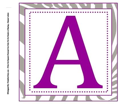 printable banner square 8x8 inch large square printable alphabet letters