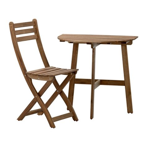 Ikea Folding Table And Chairs Askholmen Balcony Table And Folding Chair Ikea