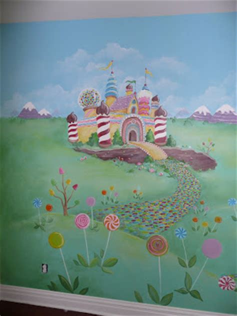 candyland wall mural candyland themed mural for girl s playroom