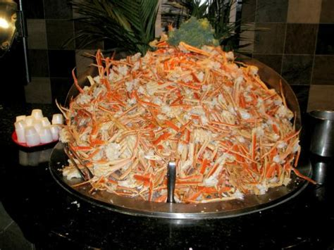 mountain of crab legs at the elements buffet picture of