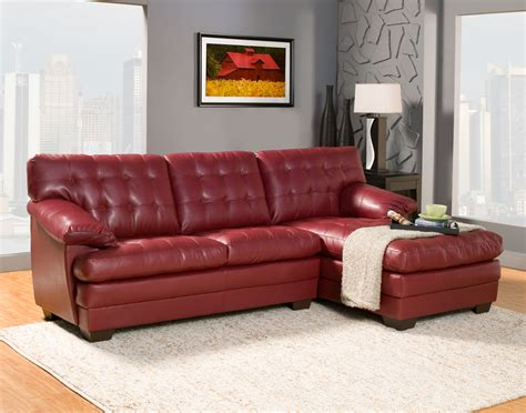 red leather sofa sectional homelegance brooks sectional sofa set red bonded