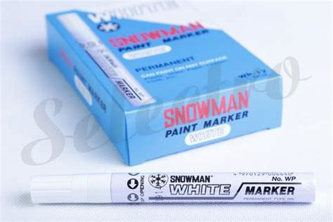 Murah Spidol Snowman Paint Marker White Colour permanent marker paint wp 12 white snowman selectro indonesia