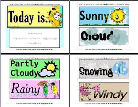printable weather poster today s weather free printables kindergarten