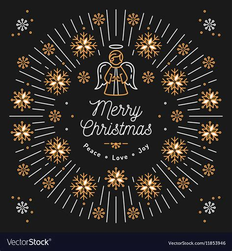 merry christmas card xmas religious poster vector image