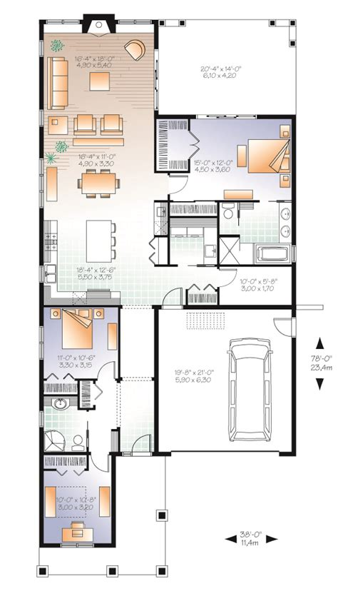 three bedroom bungalow floor plan three bedroom bungalow house plan professional builder house plans