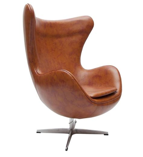 retro faux leather egg chair by i retro