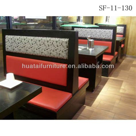 leather food for sofas commercial use double side restaurant booth seating fast
