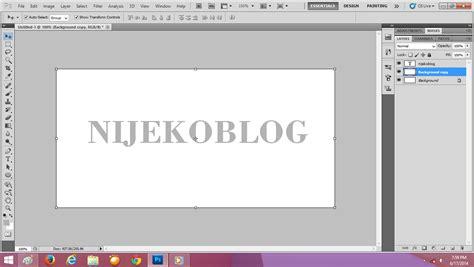 membuat video efek cara membuat teks dengan efek besi chrome pada photoshop
