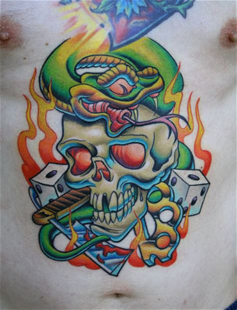 new school tattoo artists seattle tony ciavarro tough luck tattoos by tony ciavarro