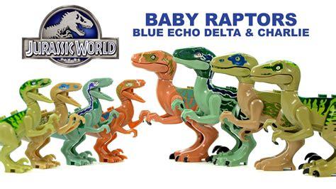 Lele Dinosaur World Jurassic World jurassic world baby raptors echo blue delta