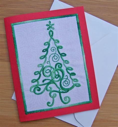 Christmas Gift Card Printing Machine - christmas tree greeting card weallsew