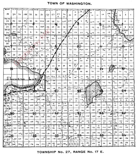 township and section 1898 washington township shawano county plat map