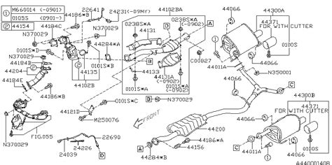 subaru forester exhaust system diagram 2010 subaru forester exhaust subaru parts deal