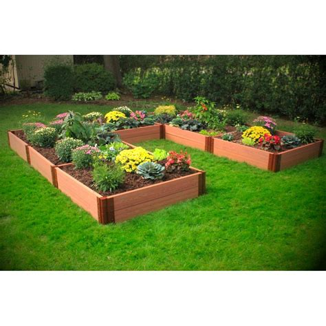 U Shaped Composite Raised Garden Bed   12? x 12? x 12? x