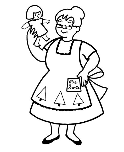 coloring pictures of santa and mrs claus mrs claus coloring page coloring home