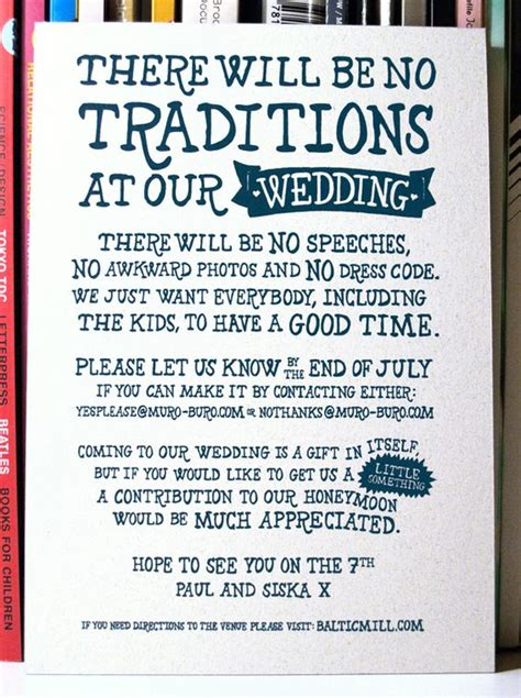 Wedding Invite Honeymoon Fund Wording