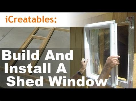 build  install  shed window youtube