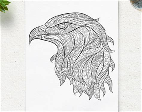 eagle mandala coloring pages printable coloring pages husky head animal coloring page adult