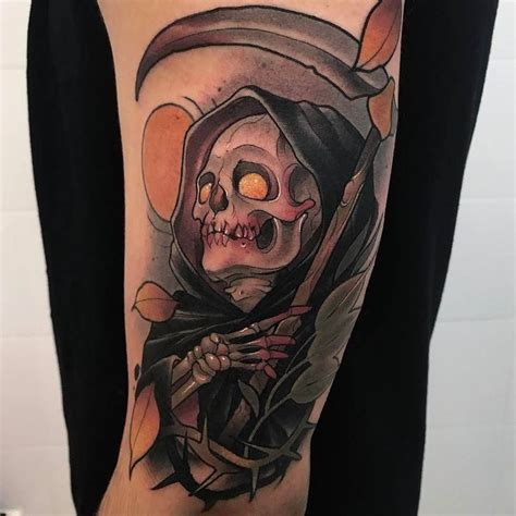 grim reaper traditional tattoo 60 grim reaper tattoos with meanings
