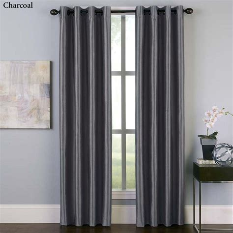 faux silk curtain panels malta faux silk room darkening grommet curtain panels