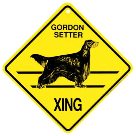 doodle crossing sign gordon setter xing sign 816046011548 calendars