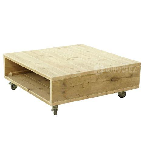 Steigerhouten Salontafel Wielen by Steigerhouten Meubels Op Maat Gemaakt Kopen Woodiez