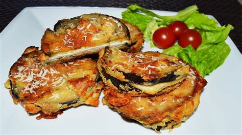 baked eggplant sandwiches easy stuffed eggplant  chicken cheese recipe youtube