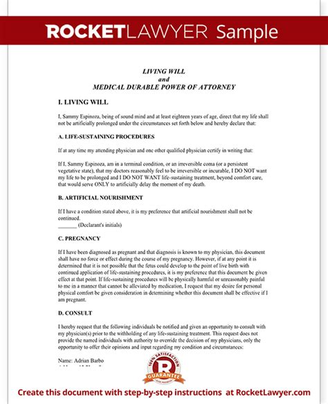 Colorado Living Will Colorado Advance Healthcare Directive Form With Sle Colorado Will Template