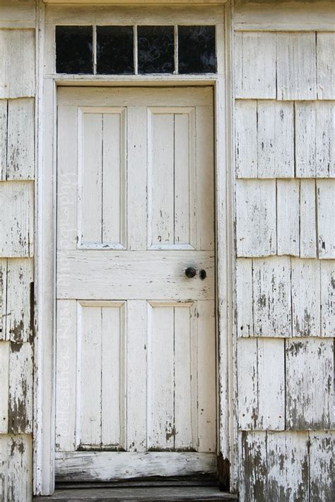 White House Door by White Wooden Door 8inx12in Photograph White